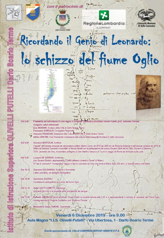 Ricordando il genio di Leonardo: Lo schizzo del fiume Oglio