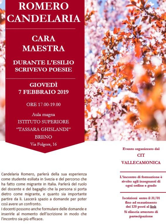 Incontro con Candelaria Romero