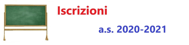 Iscrizioni a.s. 2020-2021